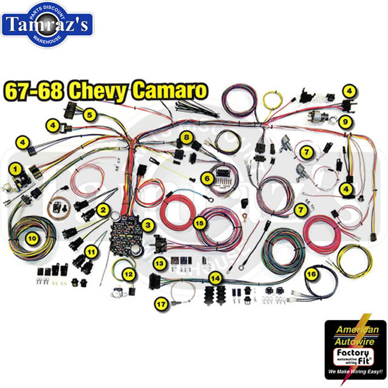 Antique Automotive Wiring Harness : Camaro classic update series complete body