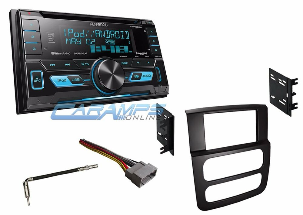 new kenwood double 2 din car stereo radio with usb aux in. Black Bedroom Furniture Sets. Home Design Ideas