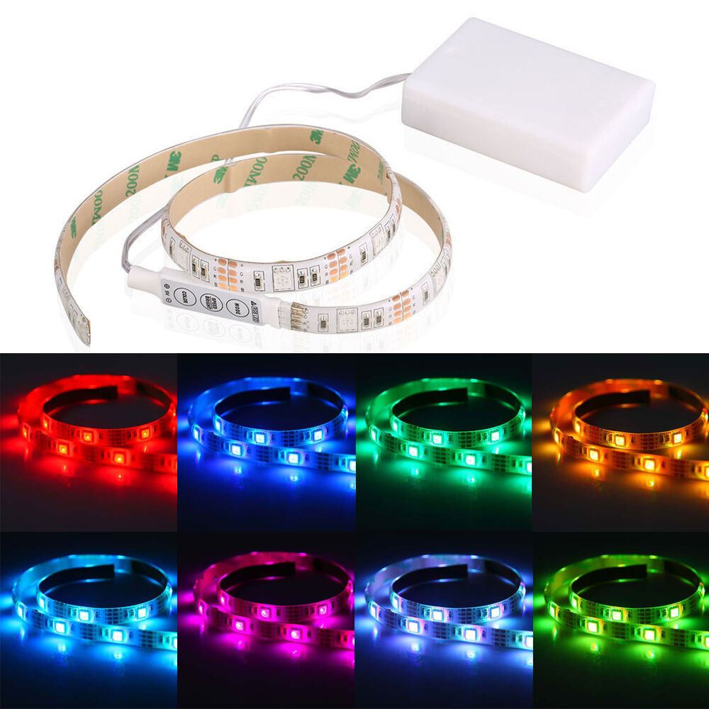 4 5v Battery Operated 50cm Rgb Led Strip Light Waterproof
