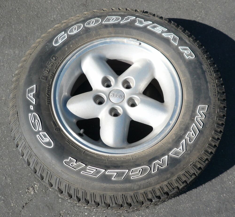 NEW JEEP WRANGLER CHEROKEE WHEEL GOODYEAR GS-A TIRE P225