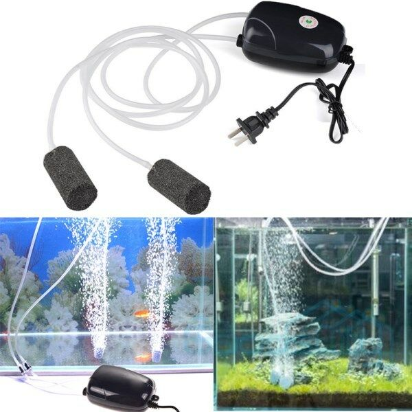 2 air bubble disk stone aerator hole air pump for fish for Air pump for fish tank