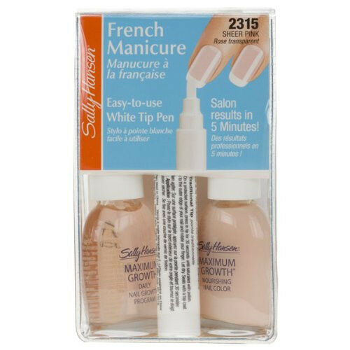 SALLY HANSEN 5 MINUTE FRENCH MANICURE PEN KIT # 2315 SHEER ...