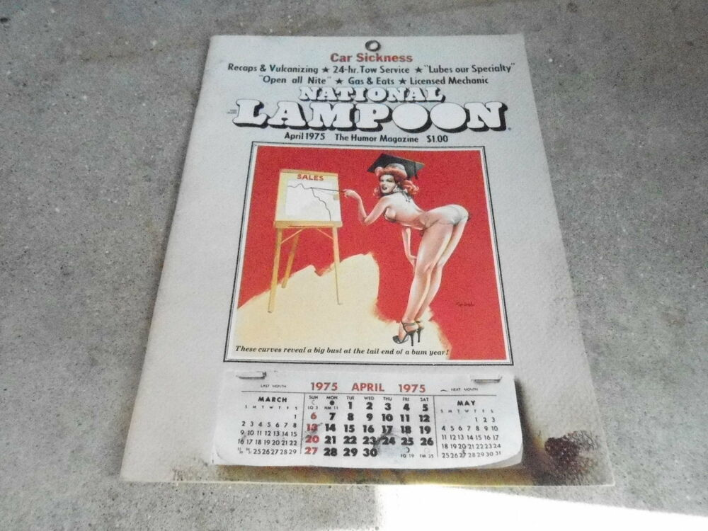 April 1975 National Lampoon Vintage Magazine Pinup Calendar Ebay