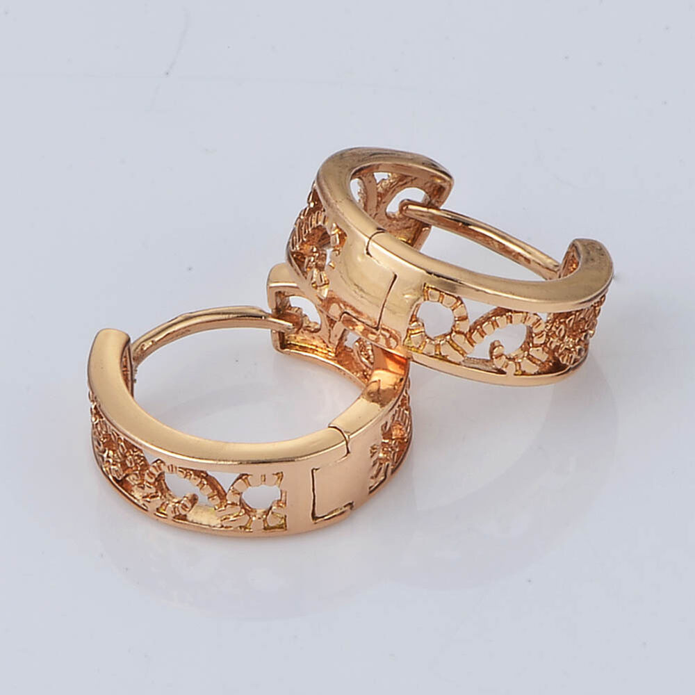 cheap gold earrings infant baby openwork hoop earrings 14k gold 8150