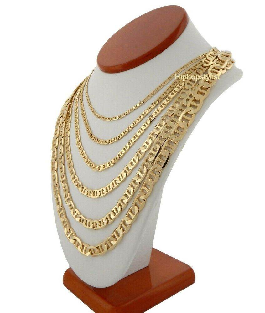 Mens Mariner Gucci Link Chain 14k Gold Plated 3 25mm To 9