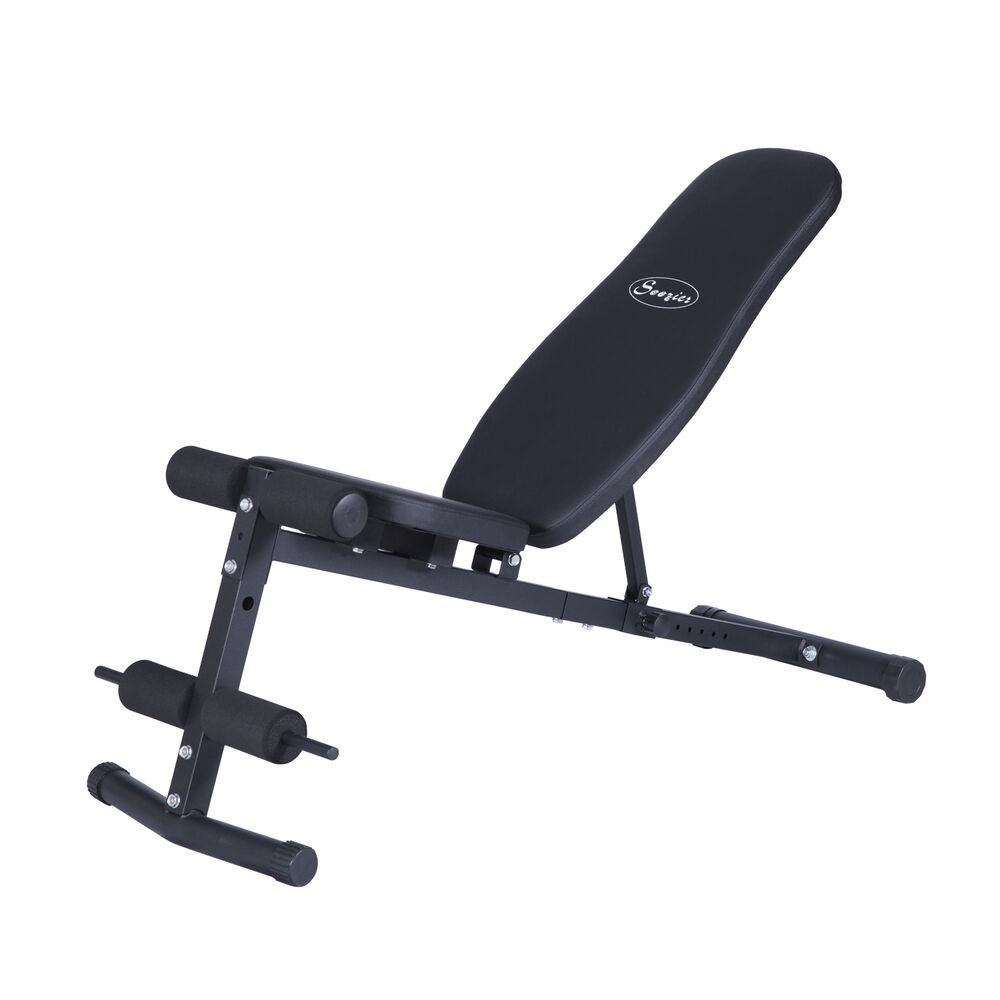 Soozier adjustable fitness weight bench exercise incline decline abs workout ebay - Weight bench incline decline ...