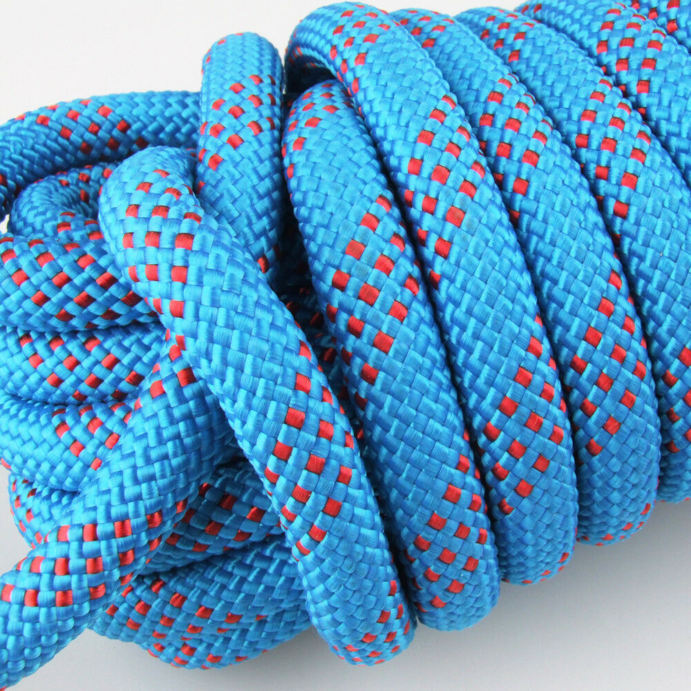25KN 12mm Safety Rock Climbing Static Sling Rappelling ... Rock Climbing Rope