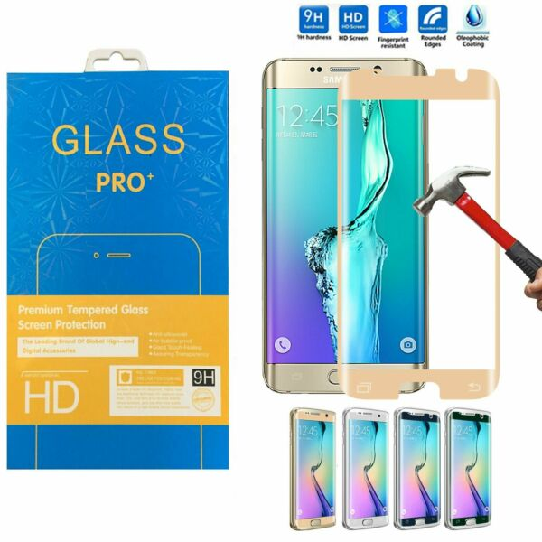 Full Coverage  Tempered Glass Curved Screen Protector for Samsung Galaxy S7 Edge