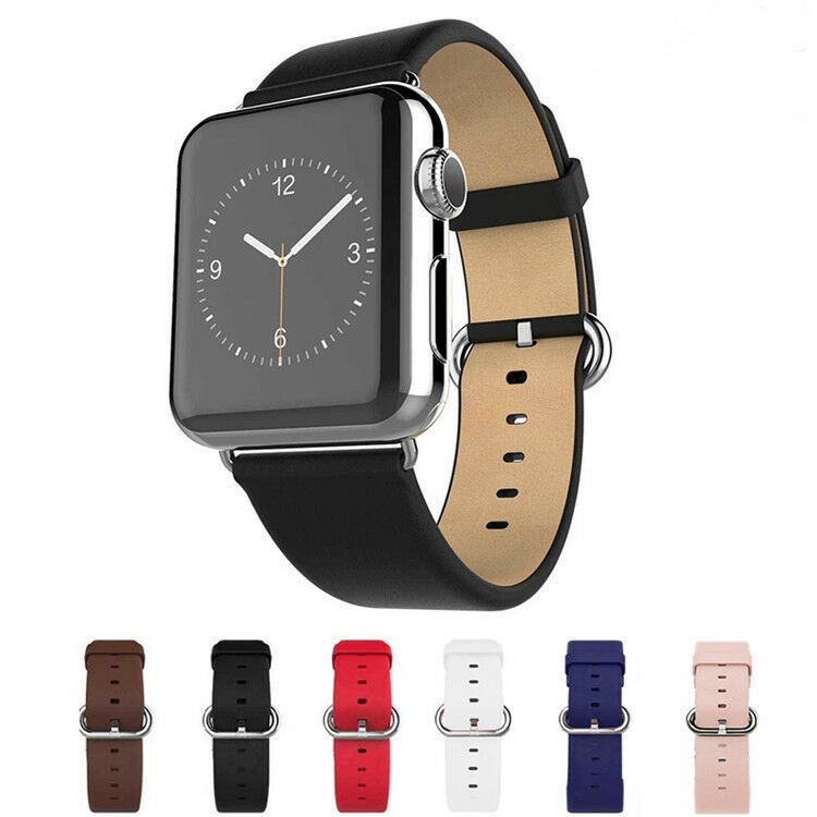 Modern buckle genuine leather magnetic watch wrist band for apple watch 42mm usa ebay for Magnetic watches