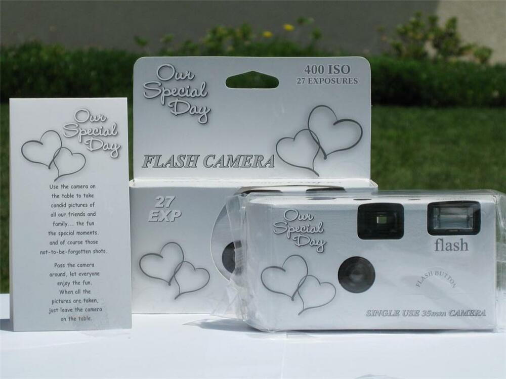 12 Happy Hearts Disposable Wedding Cameras, NEW! eBay