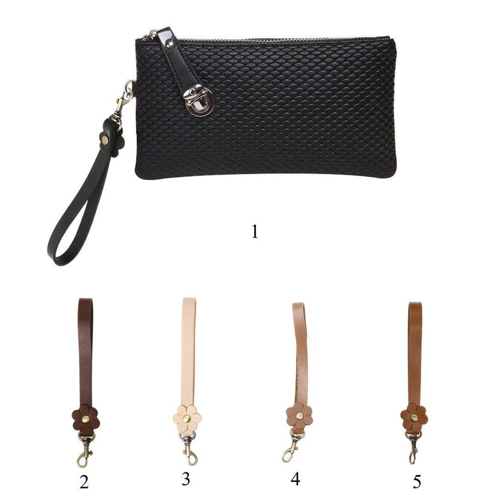 Durable Leather Replacement Wrist Strap For Clutch