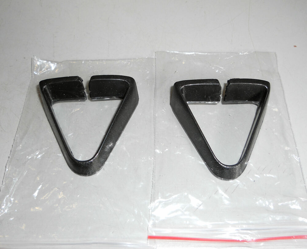 77 81 CAMARO FIREBIRD BLACK SEAT BELT GUIDES Z28 TA RH AND