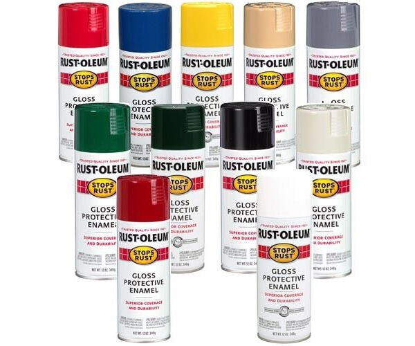 Rust Oleum Protective Enamel Spray Paint Oil Based Stops Rust 12 Oz Cans Ebay