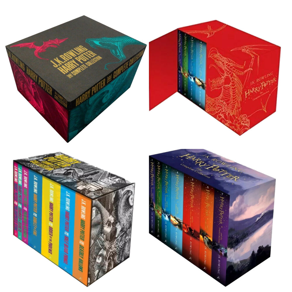 Harry Potter Book Gift Set : The complete harry potter books collection gift box set