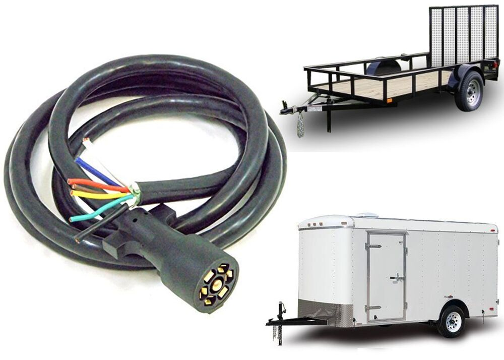 7 blade wiring harness 7 blade wiring diagram 7 way blade molded trailer wire 10' feet replacement cable ... #4