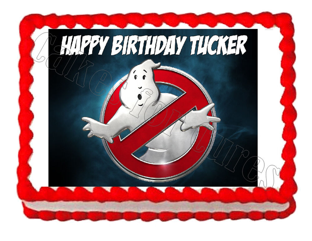 ghostbusters cake topper ghostbusters logo edible cake image cake topper 4489
