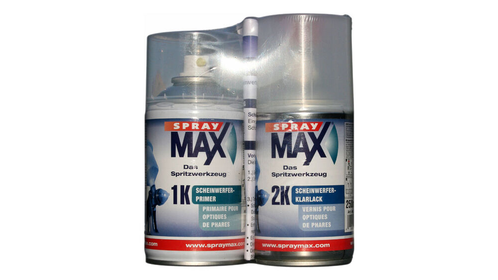 spray max scheinwerfer reparatur set 2x250ml ebay. Black Bedroom Furniture Sets. Home Design Ideas