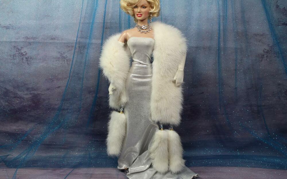 Madonna Style White Mink Fur Boa W Tails 4 Tonner Marilyn