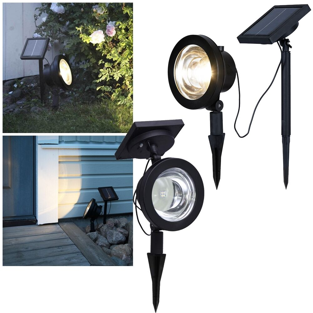 power led solar strahler variabel 30lm gartenstrahler solarspot solarleuchte ebay. Black Bedroom Furniture Sets. Home Design Ideas