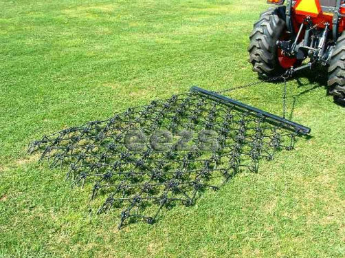 Landscape Rake Or Harrow : Variable action drag chain harrow