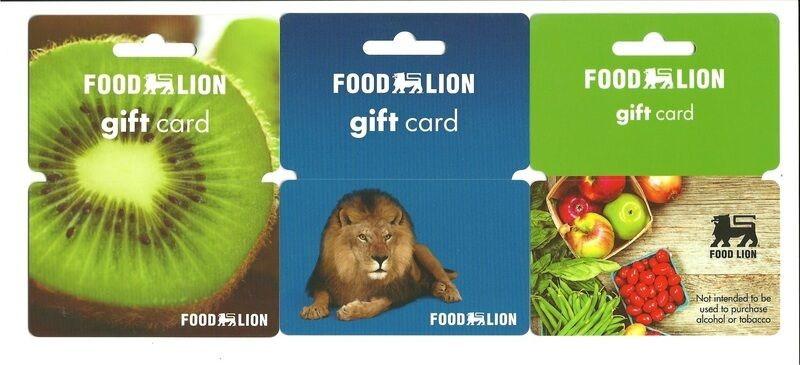 American Eagle Credit Card Sign In >> Lot (3) Food Lion Gift Cards No $ Value Collectible | eBay