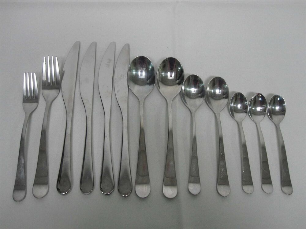 13 pcs gs gourmet settings gon17 stainless flatware ebay - Gourmet settings flatware ...
