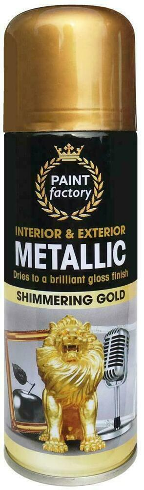 8 x metallic gold spray paint interior exterior spray. Black Bedroom Furniture Sets. Home Design Ideas