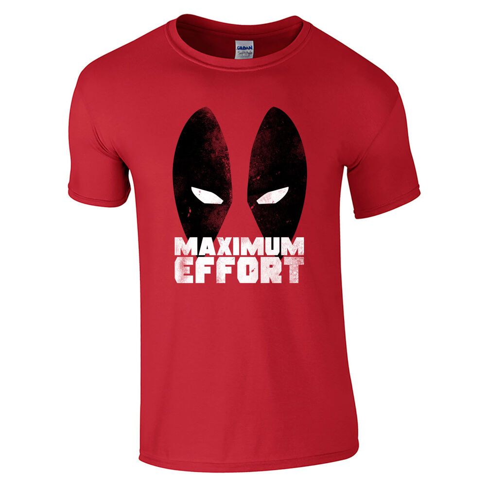 c1d4390a Details about Maximum Effort T-Shirt - Comic Eyes Superhero Funny Movie Mens  Gift Top