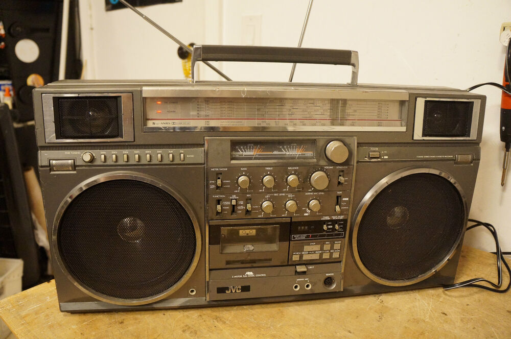 jvc rc m90jw ghetto blaster boombox ebay. Black Bedroom Furniture Sets. Home Design Ideas