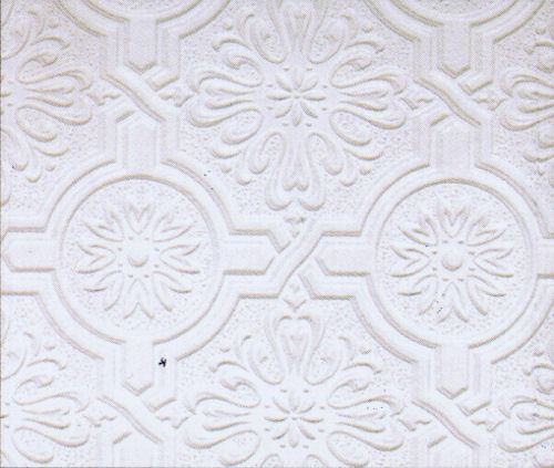 Circle Medallion And Embossed Design Tin Ceiling Paintable