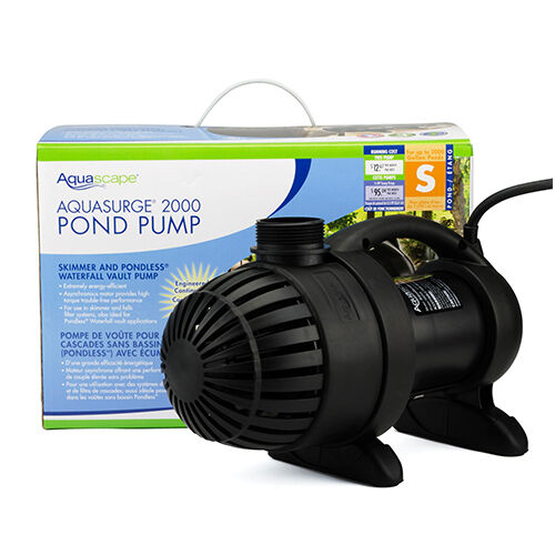 Aquascape aquasurge 2000 gph pond waterfall pump efficient for Pond waterfall pump