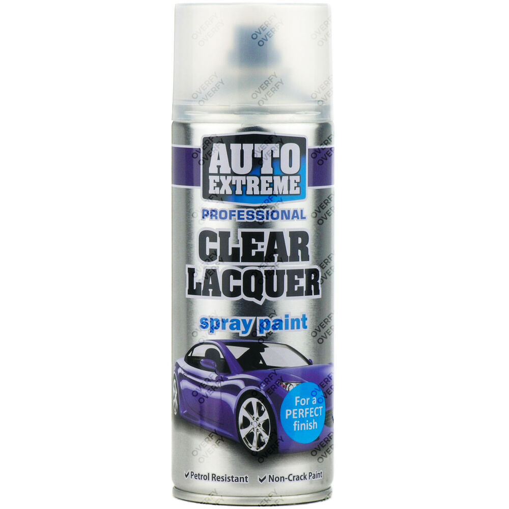 1 X 400ml Clear Lacquer Gloss Spray Paint Aerosol Can Auto Extreme Metal Wood Ebay