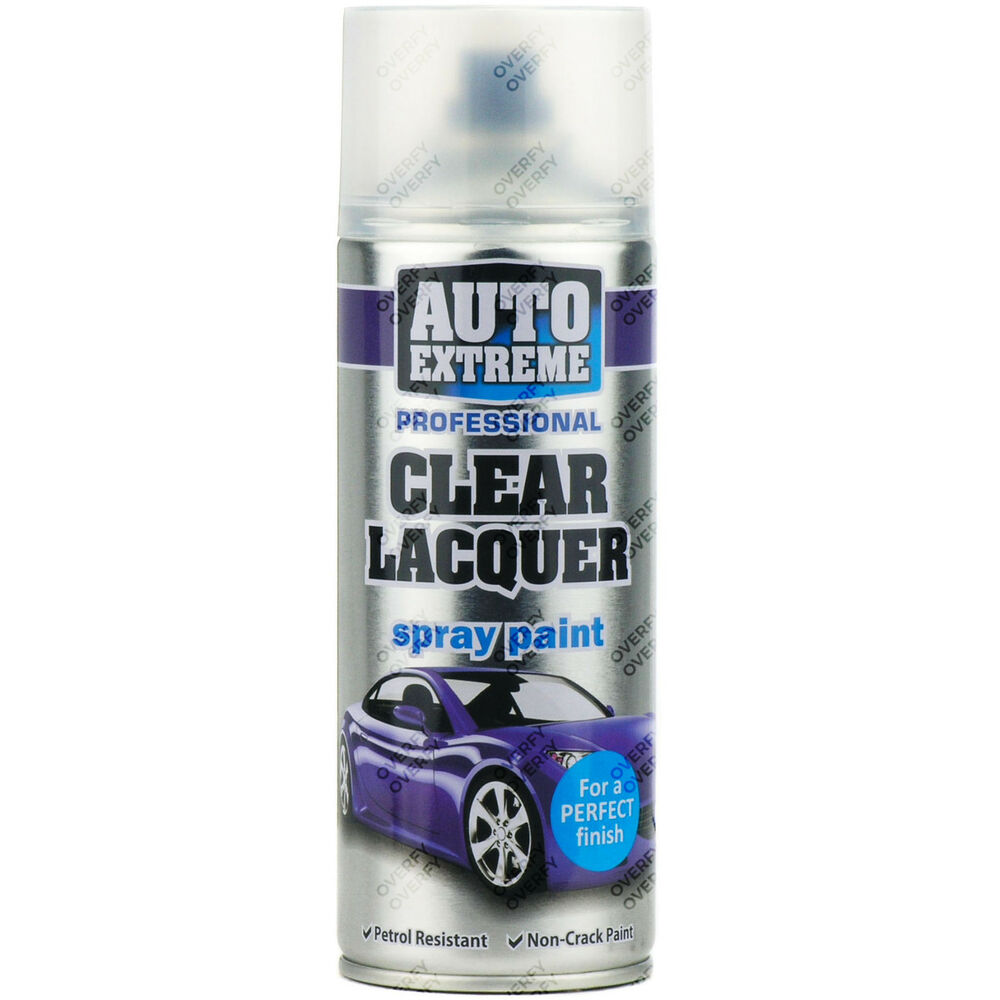 1 x 400ml clear lacquer gloss spray paint aerosol can auto extreme metal wood ebay Spray paint for metal