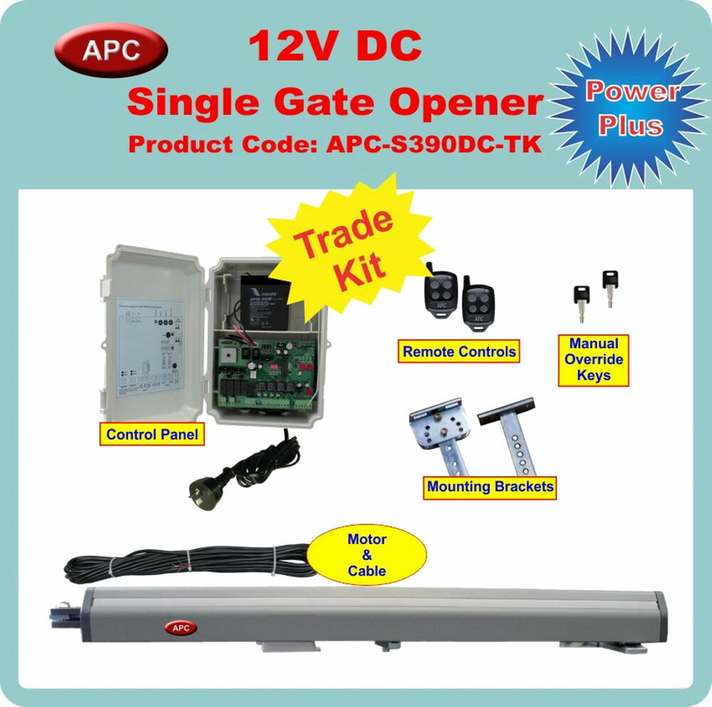 12v Single Swing Gate Opener And Closer Trade Kit With