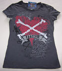 Pirates Of The Caribbean Ladies Grey Printed T Shirt Size XS New