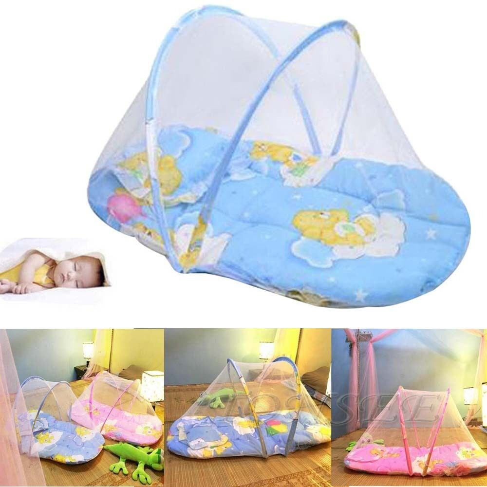 Folding Baby Kid Infant Travel Bed Crib Canopy Mosquito
