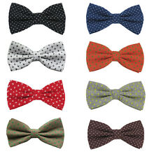 Men Women Casual Point Stars Cross Bowtie High Quality Cotton Adjustable Bow Tie