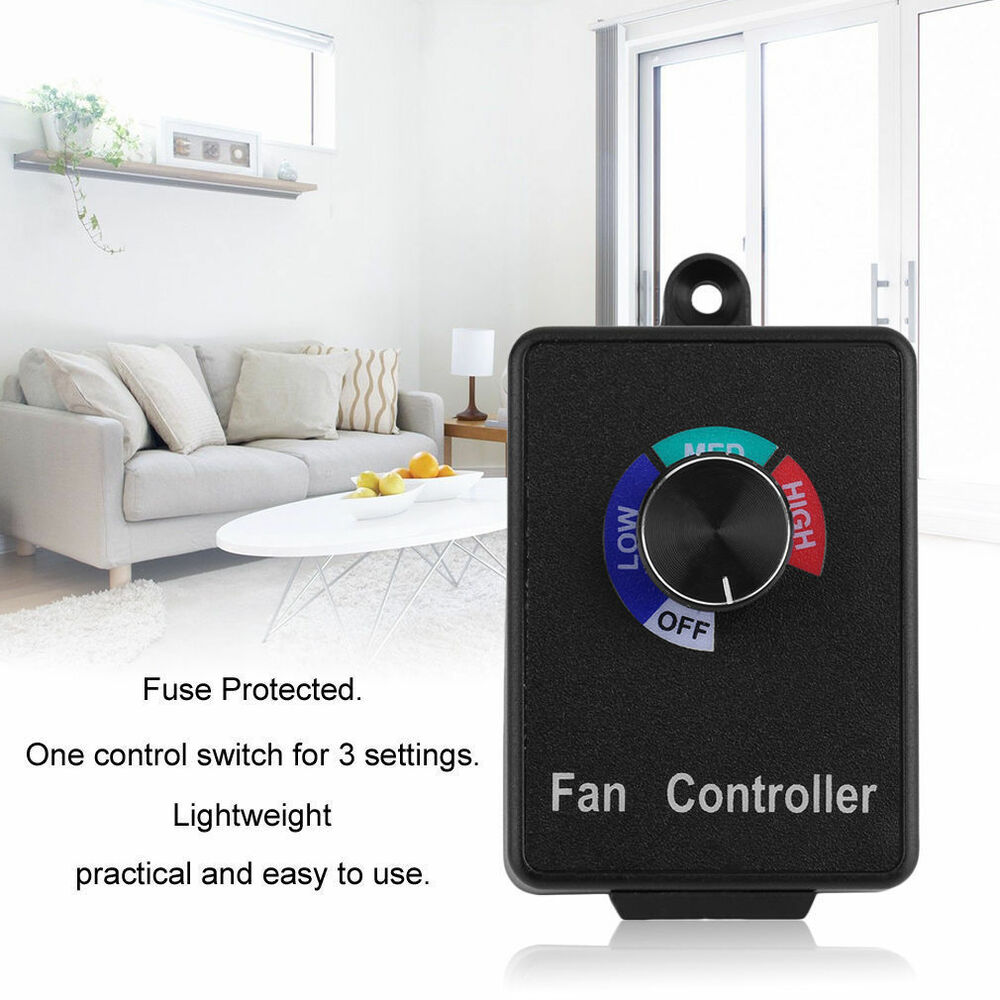 Variable active air duct booster fan speed controller for Fan motor speed control switch
