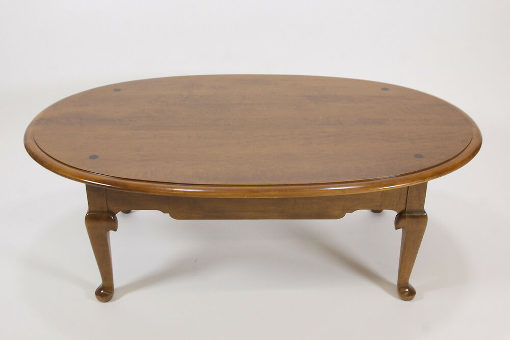 Ethan Allen Oval Coffee Table 10 8031 Maple Birch 1981 Traditional Furniture Ebay
