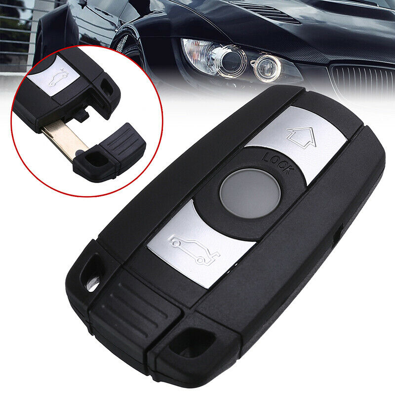 US 3 Button Remote Key Case Shell+Key Blank For BMW 1 3 5