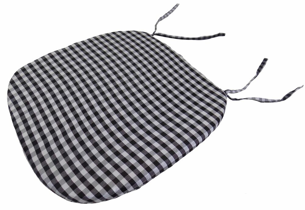 Gingham Check Black White 16 Quot X 16 Quot X 1 Quot Seat Pad To Match