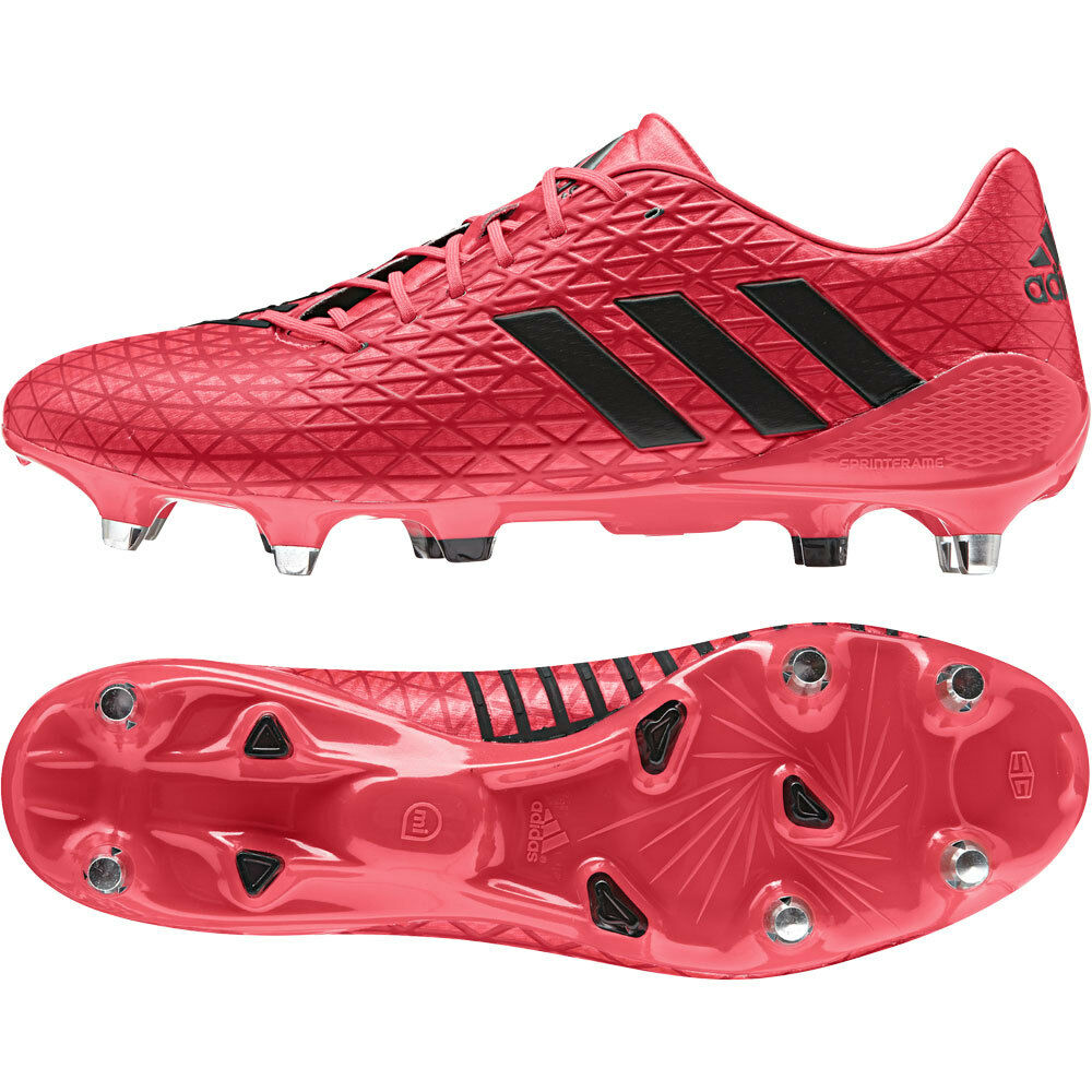 Details about Adidas Predator Malice Soft Ground Rugby Boots Shock Red 5f5f71127f0