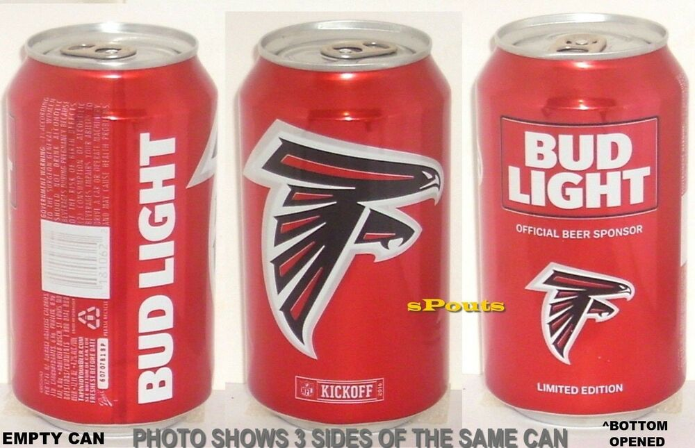 2016 Atlanta Falcons Nfl Kickoff Bud Light Beer Can Sports