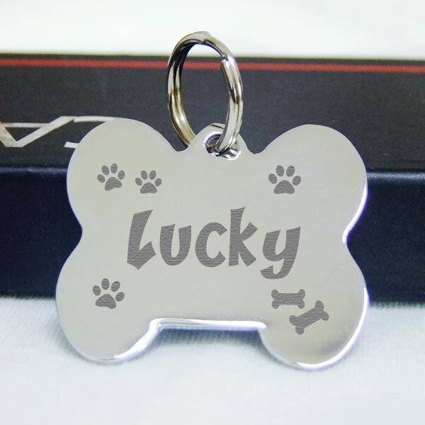 Double Sided Engraved Pet Id Tags Stainless Steel Dog Tag