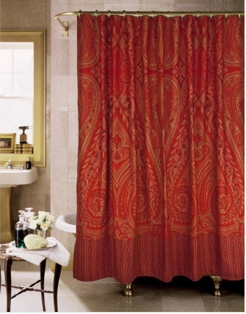 New Paisley Alexandria Shower Curtain By Rose Tree