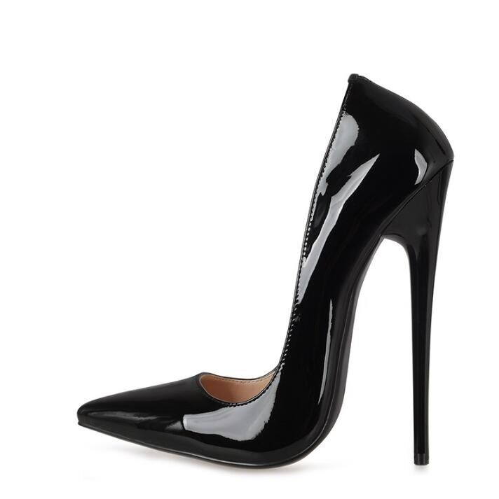 Black Stiletto Pointed Shoes