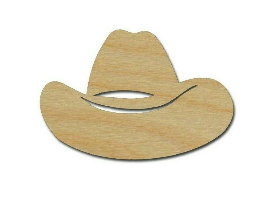 Cowboy Hat Shape Wood Cut Out Unfinished Western Wooden ...