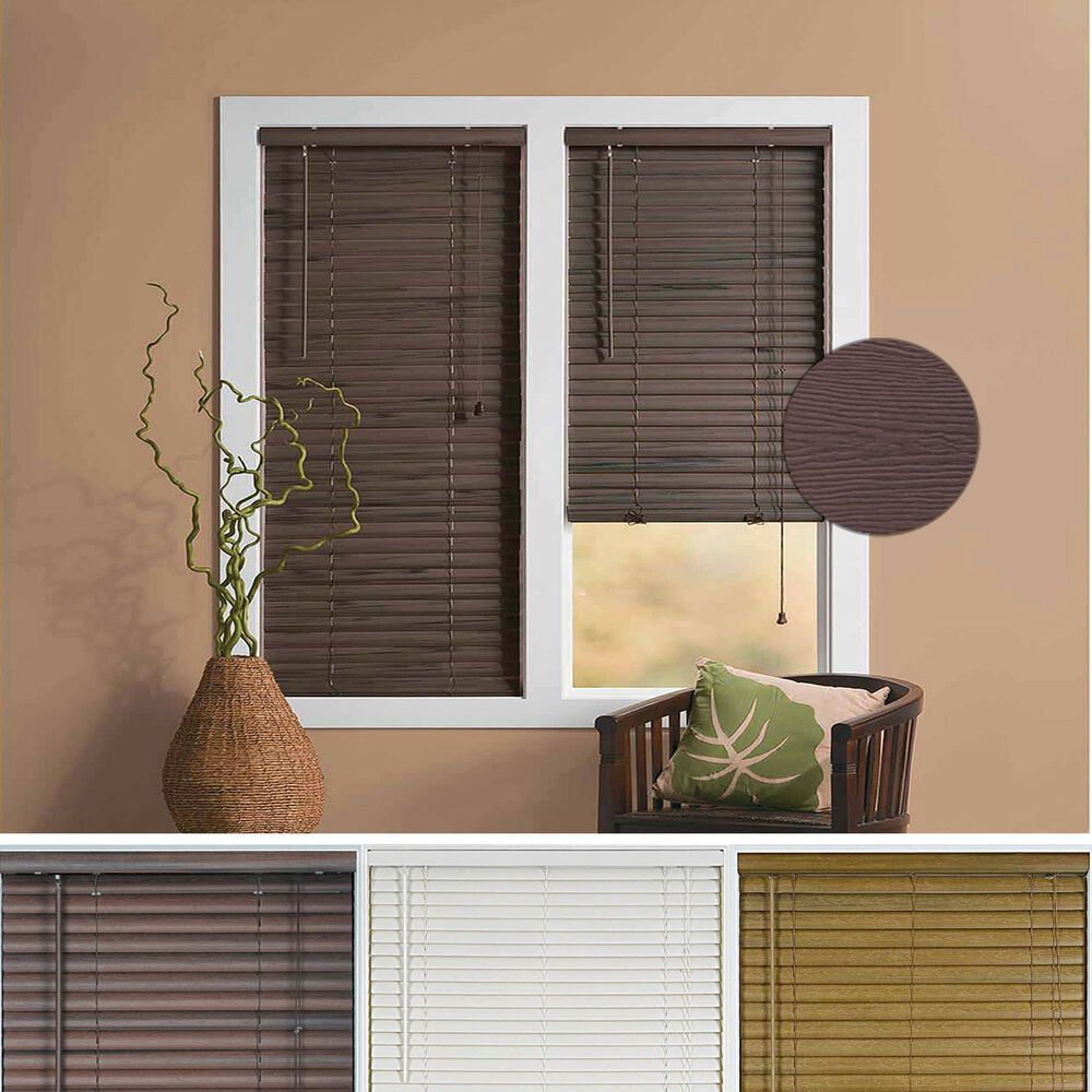 Window Blind 2 Quot Slats Mini Blinds Vinyl Embossed Woodgrain