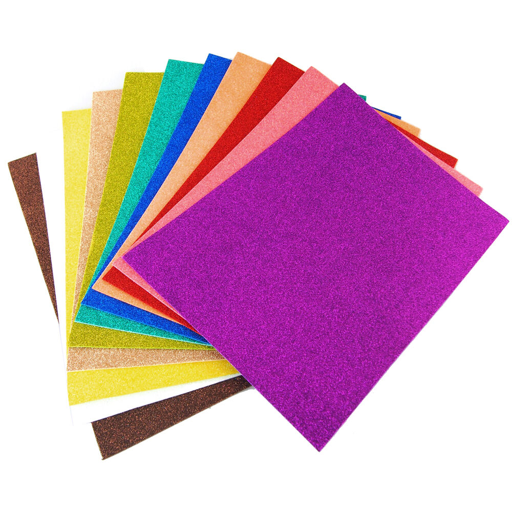 glitter eva foam sheets arts and crafts 13 x18 9 x12