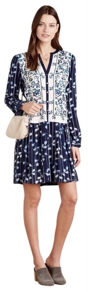 d53daee513b6 NEW Anthropologie Semele Floral Shirt Dress Size Medium Petite | eBay